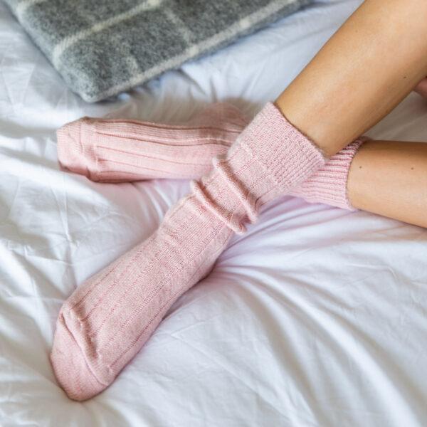 Pink Alpaca Bed Socks Box