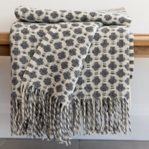 Grey Weave Throw