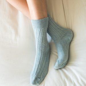 Blue Alpaca Bed socks
