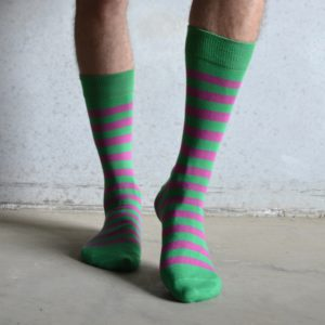 Stripes! Green & Pink