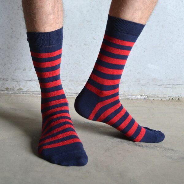 Stripes! Red & Navy