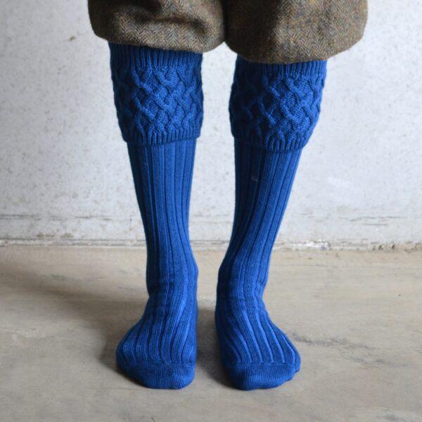 Oxford Shooting socks – Blue