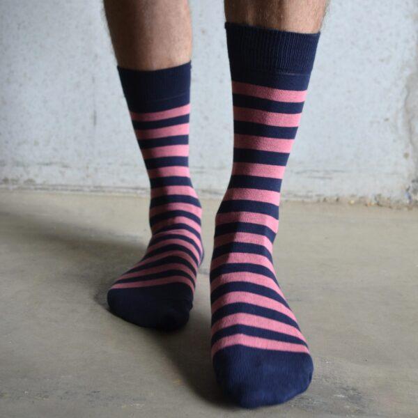 Stripes! Pink & Navy