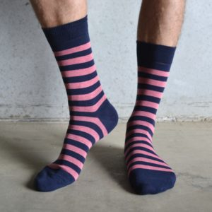 Stripes! Pink & Navy