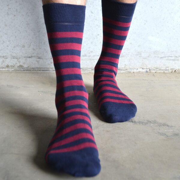 Stripes! Burgundy & Navy