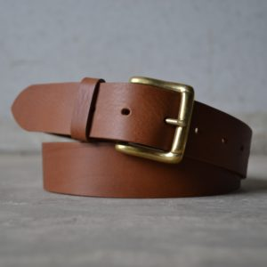 Leather Belt – 35mm Brown