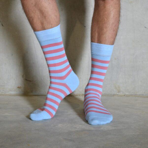 Stripes! Pink & Blue
