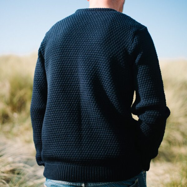 Mens Moss stitch jumper