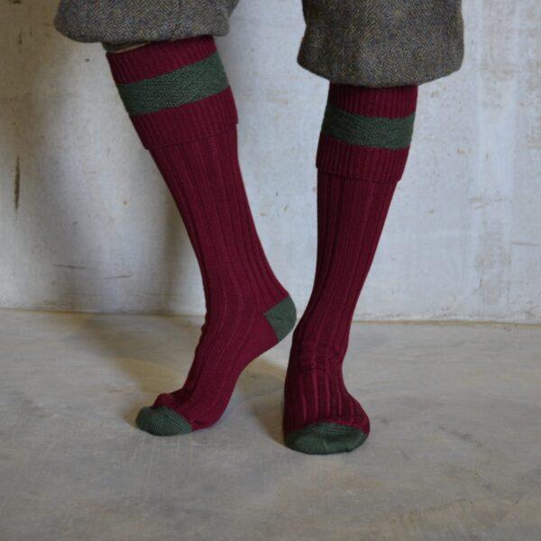 Eaton Shooting socks – Burgundy