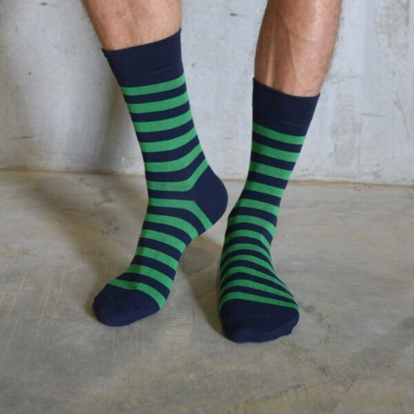 Stripes! Green & Navy