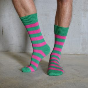 Cotton Stripes – Pink & Green