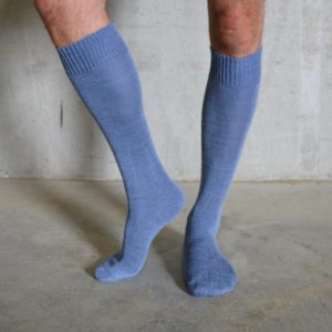 Long Alpaca socks – Blue