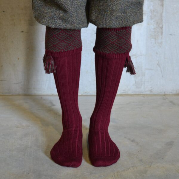 Belvoir Shooting socks – Burgundy