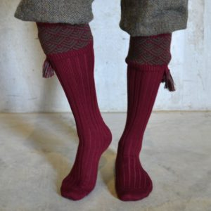 Belvoir Shooting socks – Burgundy