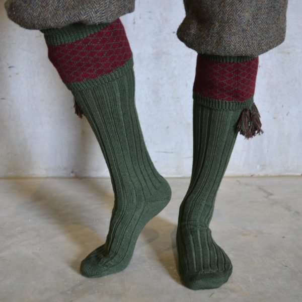 Oakham Shooting socks – Green
