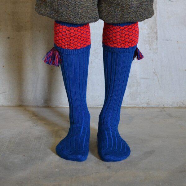 Oakham Shooting socks – Blue & Red