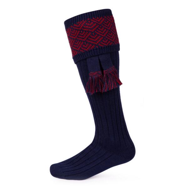 Belvoir Shooting socks – Navy & Red