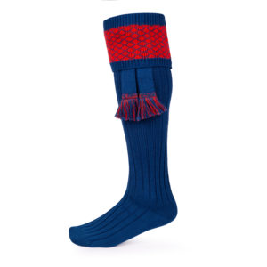 Oakham Shooting socks – Blue & Red
