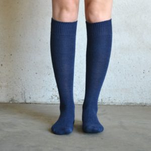 Long Alpaca socks – Navy