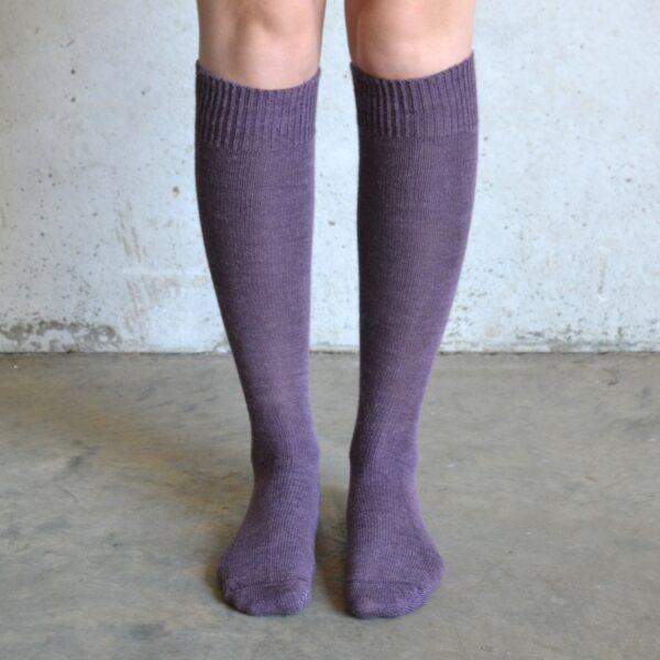Long Alpaca socks – Purple