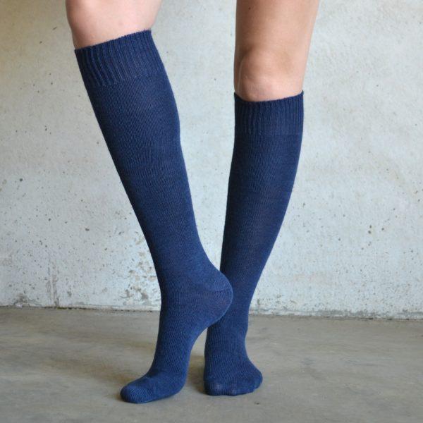 Long Alpaca socks – Navy
