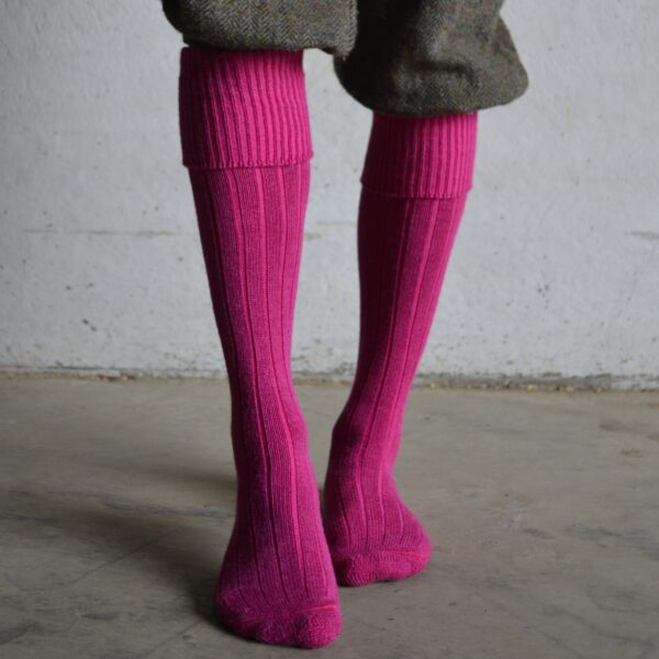 Alpaca Shooting & Boot socks – Pink