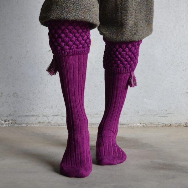 Balmoral Shooting socks – Bilberry