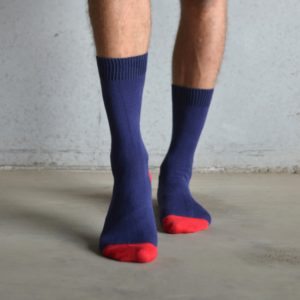 Cotton socks – Heal & Toe contrast