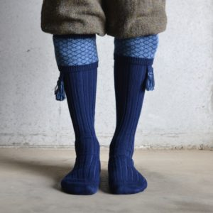Oakham shooting socks – Navy & Blue