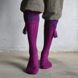 Belvoir shooting socks – Bilberry & Navy