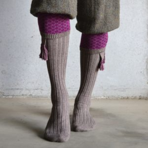 Oakham Shooting socks – Fawn & Bilberry