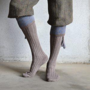 Belvoir shooting socks – Fawn & Blue