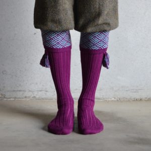 Belvoir shooting socks – Bilberry & mint