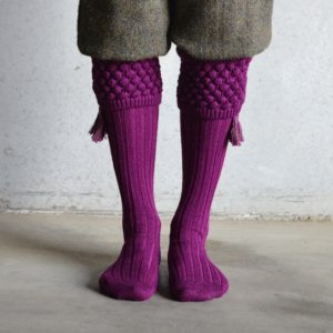 Balmoral Shooting socks – Bilberry