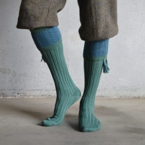 Oakham Shooting socks – Green & Blue