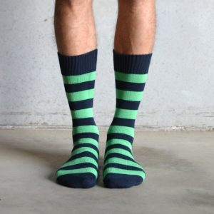 Cotton Stripes – Green & Navy