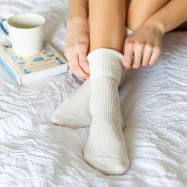 Cashmere socks – Cream
