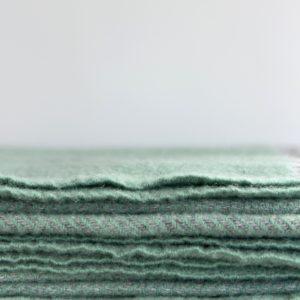 Green & Grey Herringbone throw