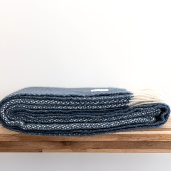 Slate blue throw