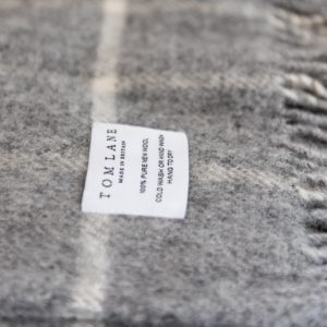 Grey & cream Check Throw