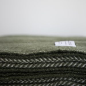 Herringbone Throw – Olive