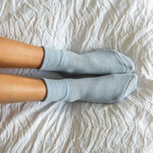 Cashmere socks – Blue