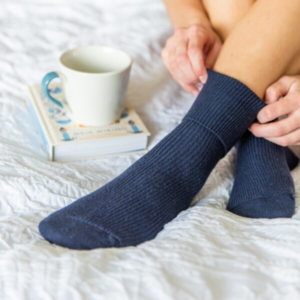 Cashmere socks – Navy