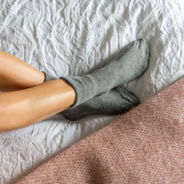 Cashmere socks – Grey
