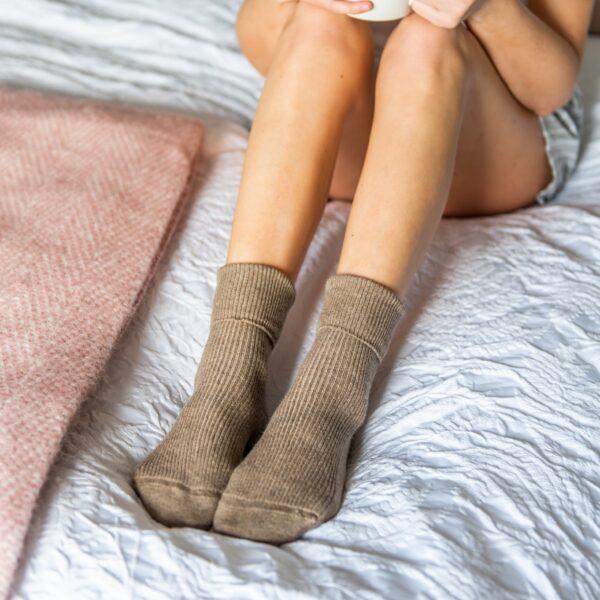 Cashmere socks – Brown