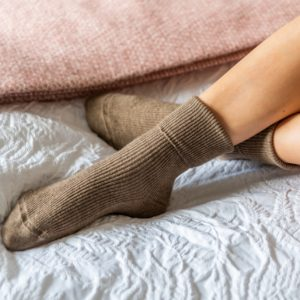 Cashmere socks – Brown