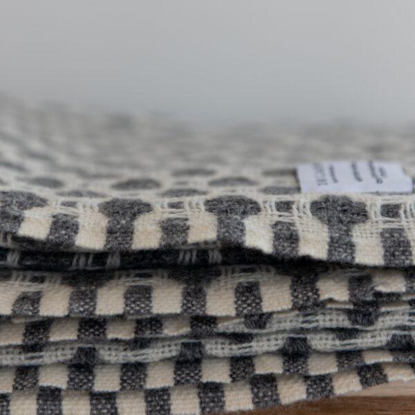 Grey Weave Throw