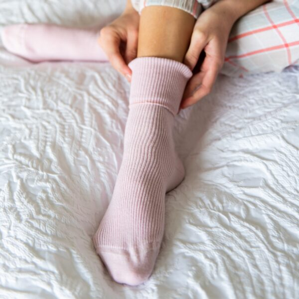 Cashmere socks – pink