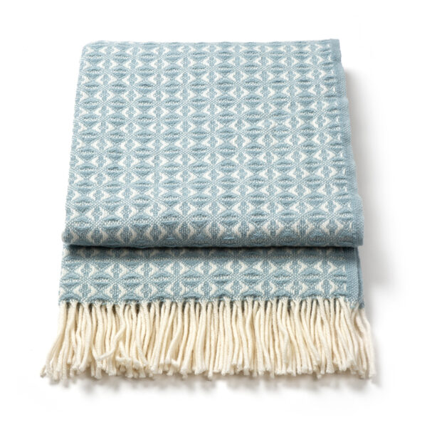 Duck egg weave throw