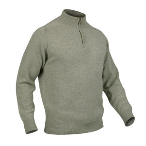 Mens Zip Neck Jumper – Sage
